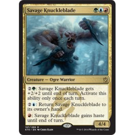 MTG Magic ♦ Khans of Tarkir ♦ Savage Knuckleblade English NM