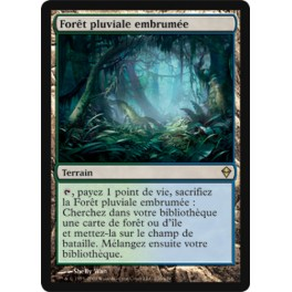 MTG Magic ♦ Zendikar ♦ Forêt Pluviale Embrumée VF NM