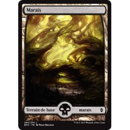 MTG Magic ♦ Battle for Zendikar ♦ Marais Textless n°260 VF FOIL Mint