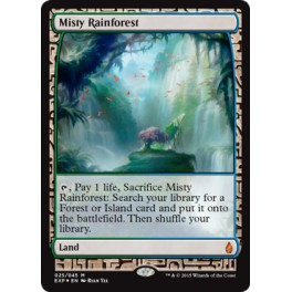 MTG Magic ♦ Battle for Zendikar ♦ Misty Rainforest Expedition English FOIL Full Art EX