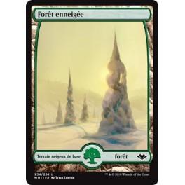 MTG Magic ♦ Modern Horizons ♦  Forêt enneigée FOIL Textless French Mint