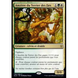 MTG Magic ♦ Throne of Eldraine ♦ Ancêtre du Terrier des Fæs FOIL French Mint