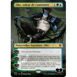 MTG Magic ♦ Throne of Eldraine Extra ♦ Oko, voleur de couronnes Full Art FOIL French Mint